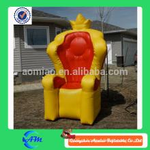Inflável sofá estável cartoon / rainha inflável trono