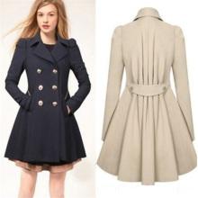 Manteau à capuchon décontracté décontracté à double tricot classique féminin