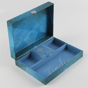 Mewah Velvet Berbaris Display Gift Box Jewelry