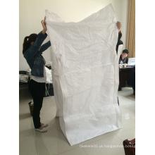 FIBC PP saco com saia cobrir para embalagem fertilizante