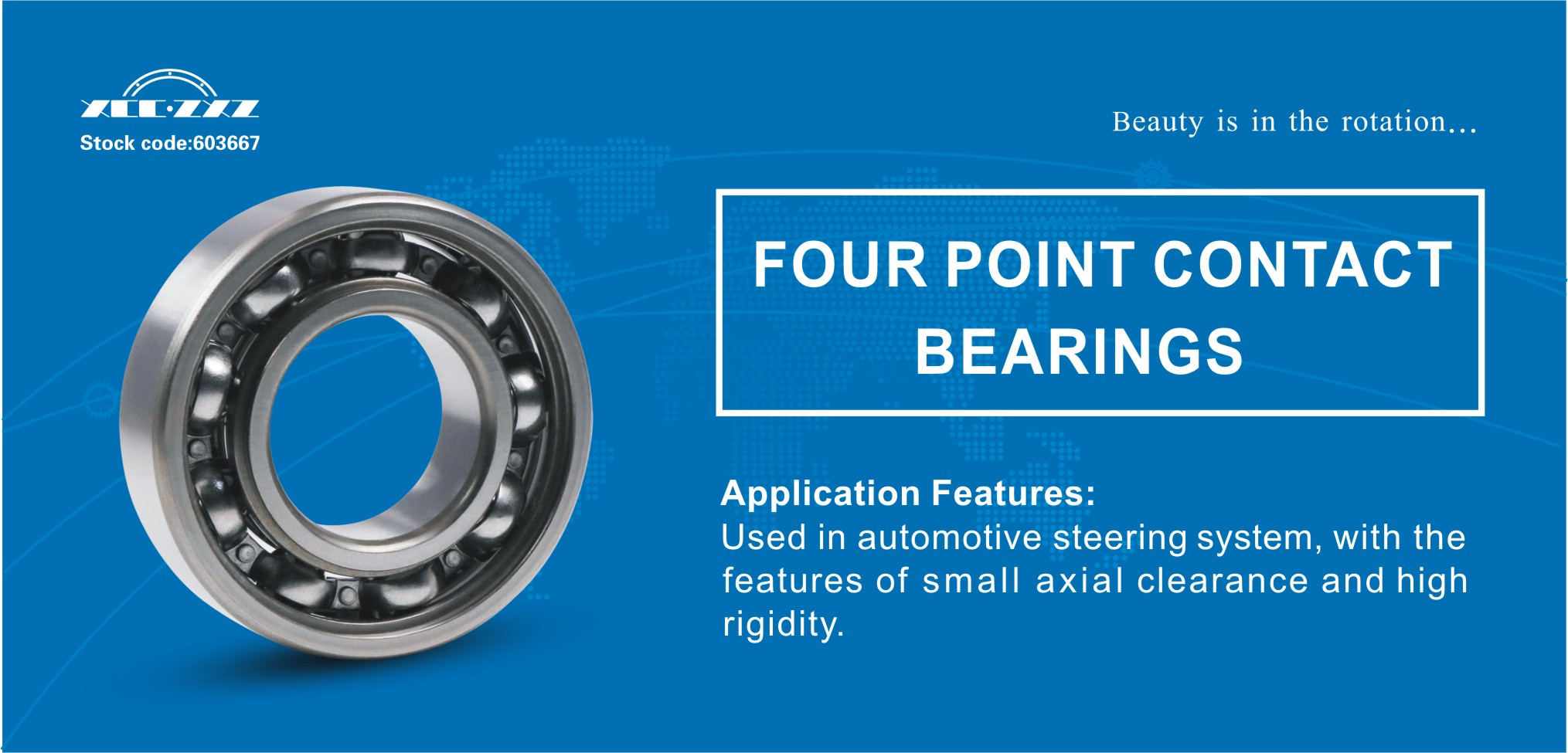Four Point contact ball bearings introduction