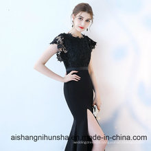 Sexy Formal Black Lace Long Mermaid Evening Dresses