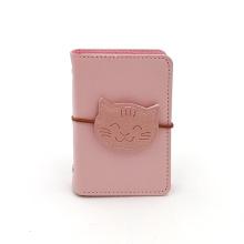 Custom cat pattern elastic PU card holder