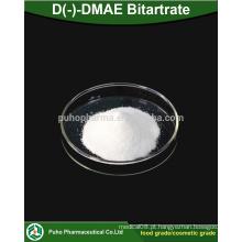 Alta qualidade D (-) - DMAE Bitartrate em pó em estética / grau alimentar