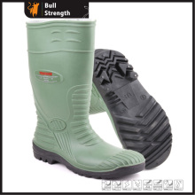 Green PVC Rain Boots with Steel Toe Cap (Sn5220)
