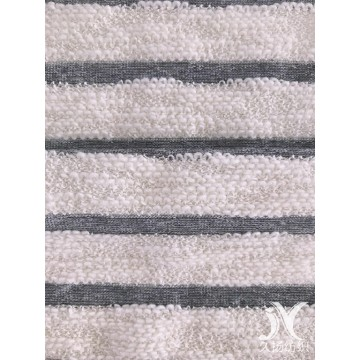 Weißer Slub Stripe French Terry Knit