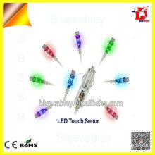 Spiral cable de datos usb Colorido LED Touch diseño Transparente eléctrico coche Cargador para el teléfono móvil Samsung