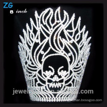 High Quality Crystal Fire And Skull halloween pageant crown
