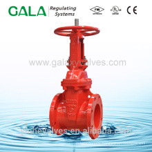 UL FM approved stem gate valve for fire protection