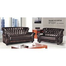 New Classic Genuine Leather Sofa for Office (F073)
