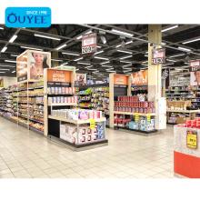Modern Supermarket Display Racks Homeware Retail Shop Wooden Supermarket Shelves