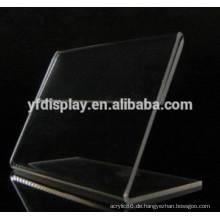 Transparenter Acryl gebogener Ausstellungsstand