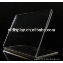 Clear Acrylic Material Curved Display Card