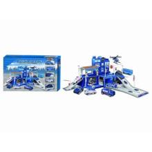 Caixas de carro de metal fundido Set Toy-Garage Set Special Police