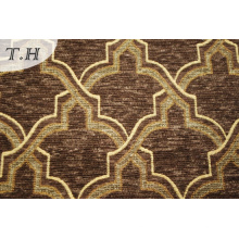 Gemotric Design Sofa Fabric Upholstery Chenille Fabric