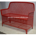 Wrought Iron Garden Bench colorfull powder coated weather proof