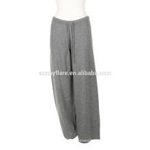 Mulher elegante 100% Cashmere Super Warm loose Pants