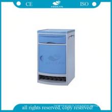 AG-BC006 ABS hôpital armoire de rangement en plastique chevet armoires