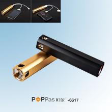 Lanterna do diodo emissor de luz do banco do poder do USB do CREE XPE-R2 (Poppas-6617)