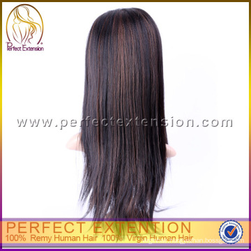India Merchandise 18 Inch U Part Silky Straight Human Hair Wig