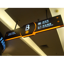 Metro estación acrílico y señal de seguridad de tráfico de carretera aluminio