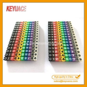 POM Colorful Numeric och Letter Cable Marker Strips