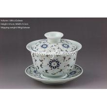 Porcelana de oro de la flor Gaiwan-180cc / Gaiwan