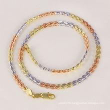 Tri-Color / Three Color / Multicolor Chainsaw Necklace