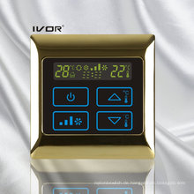 4-Rohr-Klimagerät-Thermostat-Berührungsschalter im Metallrahmen (SK-AC2000B-4P-N)