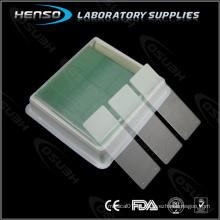 Lâminas de microscópio de adesivo HENSO 7112 - Positivo carregado