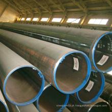 Tubo de aço soldado preto de boa qualidade para estrutura