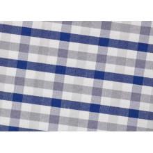 Grey/Navy vérifie confortable fils teints tissu pour chemises