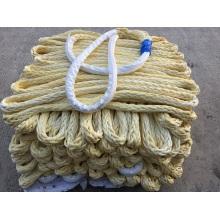 Cuerda de amarre de cuerdas dobles de polietileno de polietileno de peso molecular ultra alto del peso