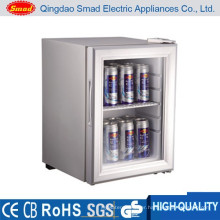 Hotel use transparent door portable minibar display fridge