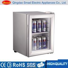 Отель использовать прозрачные двери портативный мини-дисплей холодильник