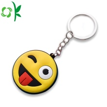 Moda Cartoon Emoji Smile Silicone Chaveiro