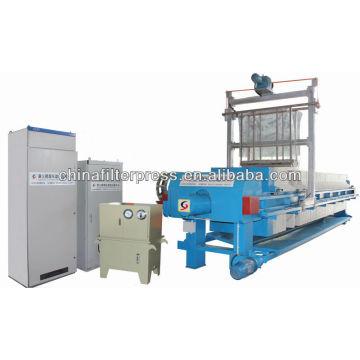 Automatische PLC-Kontrollstoff-waschende Filter-Presse-Maschine