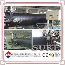 Línea de producción de tubería de bobinado de HDPE reforzado de acero plástico