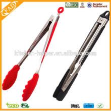 Design de moda mais vendidos de cozinha de silicone Tong e utensílios de cozinha