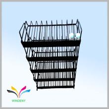 Estante de pie directo de fábrica de acero inoxidable de 5 grados para el almacén del cosmético