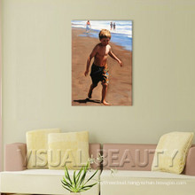 High Quality Realism Beach Kids Oil Painting