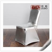 Venta caliente personalizadas color personalizado plata Spandex sillas cubiertas