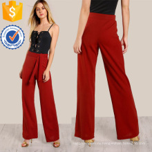 Высокий подъем передней галстук брюки Производство Оптовая продажа женской одежды (TA3099P)