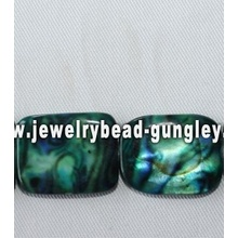 dyed green color pearl shell beads