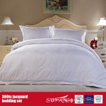 Juego de sábanas al por mayor 300TC Jacquard Juego de sábanas para hotel algodón