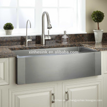 Stainless Steel Apron Front Kitchen Sink with single bowl, cUPC Stainless Steel Farmhouse Kitchen Sink