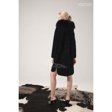 Lady Long Reversível Australiano Merino Shearling