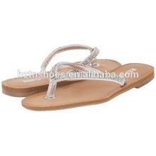 Женская плоская слайд сандалии 2016 летняя женская Blingbling флип-флоп обувь