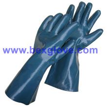 Cotton Interlock Liner, нитрильное покрытие, полностью, 35cm Длина рабочих перчаток