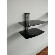 DVD Bracket/Silver Tube with Black Glass